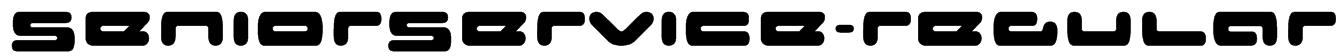 SeniorService-Regular Font