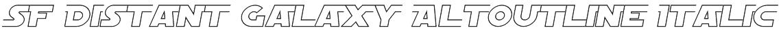 SF Distant Galaxy AltOutline Italic Font