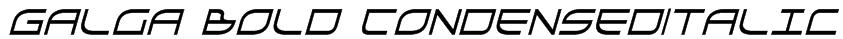 Galga Bold CondensedItalic Font