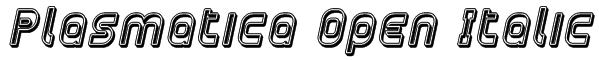 Plasmatica Open Italic Font