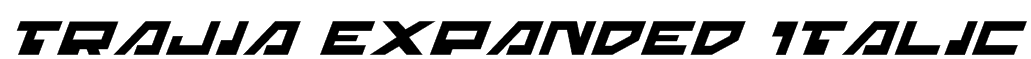 Trajia Expanded Italic Font