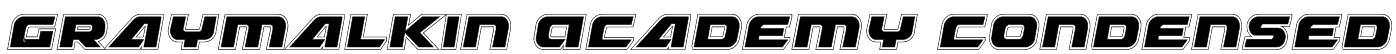 Graymalkin Academy Condensed Font