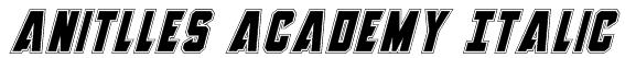 Anitlles Academy Italic Font