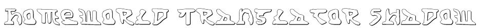 Homeworld Translator Shadow Font