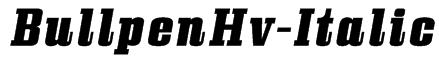 BullpenHv-Italic Font