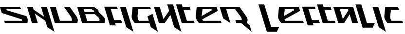 Snubfighter Leftalic Font