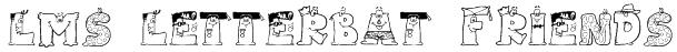 LMS Letterbat Friends Font