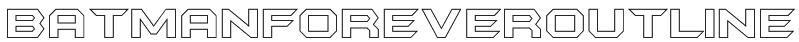BatmanForeverOutline Font