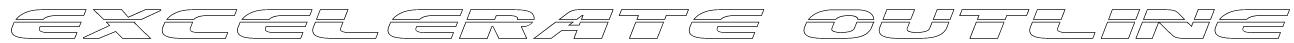 Excelerate Outline Font