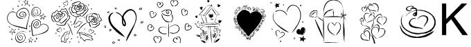 KR Valentines 2006  Font