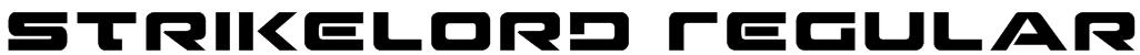 Strikelord Regular Font