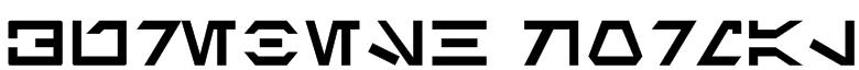 Aurebesh Normal Font