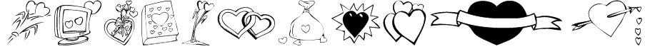 KR Valentines 2006 Ten Font