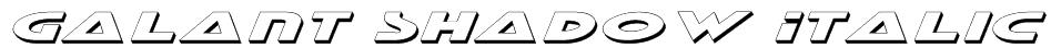 Galant Shadow Italic Font