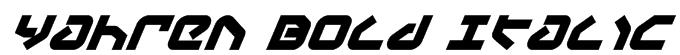 Yahren Bold Italic Font