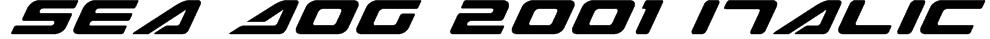 Sea Dog 2001 Italic Font