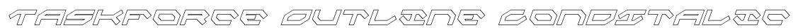 Taskforce Outline CondItalic Font