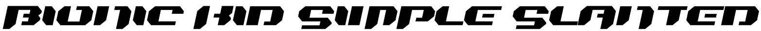 Bionic Kid Simple Slanted Font