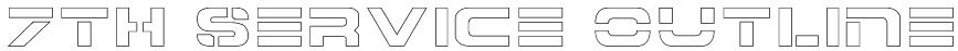 7th Service Outline Font