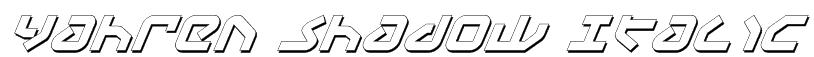 Yahren Shadow Italic Font