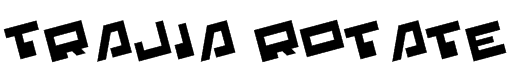 Trajia Rotate Font