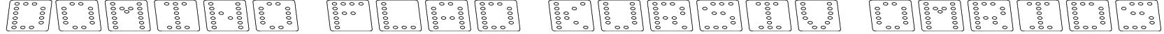 Domino flad kursiv omrids Font