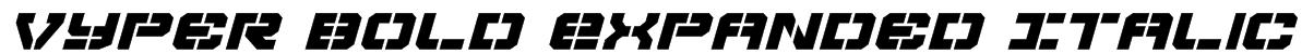 Vyper Bold Expanded Italic Font