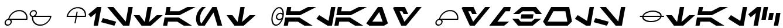 SF Distant Galaxy Symbols Italic Font