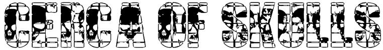 CERCA OF SKULLS Font