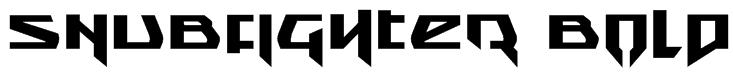 Snubfighter Bold Font