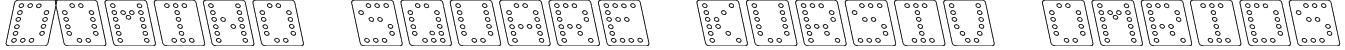 Domino square kursiv omrids Font