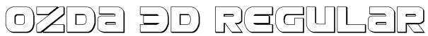 Ozda 3D Regular Font