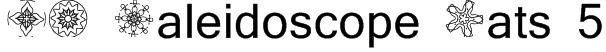 JI Kaleidoscope Bats 5 Font