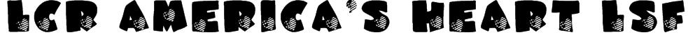 LCR America's Heart LSF Font