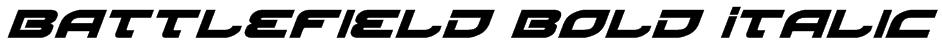 Battlefield Bold Italic Font