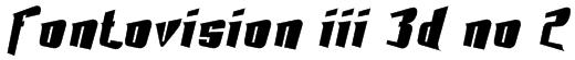 Fontovision III 3D no 2 Font
