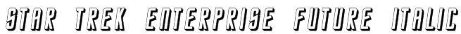 Star Trek Enterprise Future Italic Font