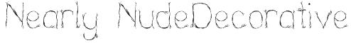 Nearly NudeDecorative Font