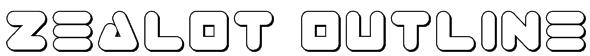 Zealot Outline Font