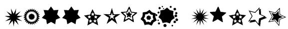 PizzaDude Stars Font