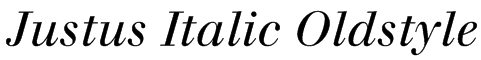 Justus Italic Oldstyle Font