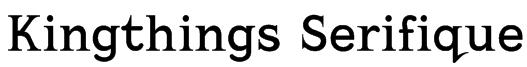 Kingthings Serifique Font