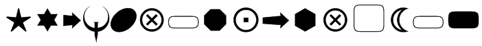 FnT_BasicShapes1 Font