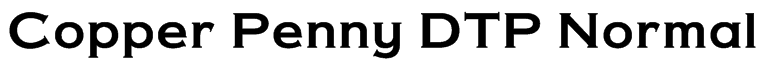Copper Penny DTP Normal Font