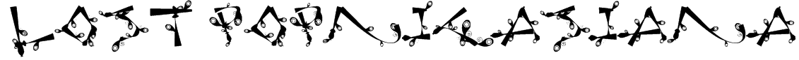 Lost Popnicasiana Font