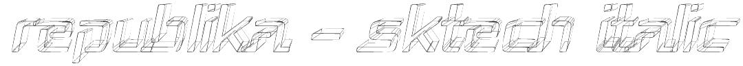 Republika - Sktech Italic Font