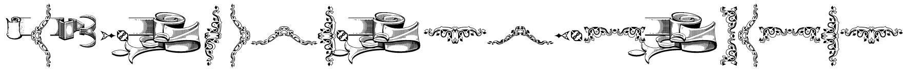 Deborah Extras/Ornaments Font