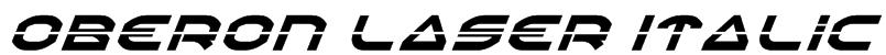 Oberon Laser Italic Font
