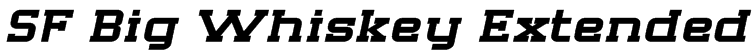 SF Big Whiskey Extended Font