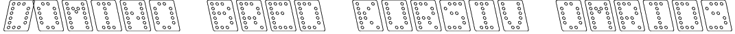 Domino bred kursiv omrids Font